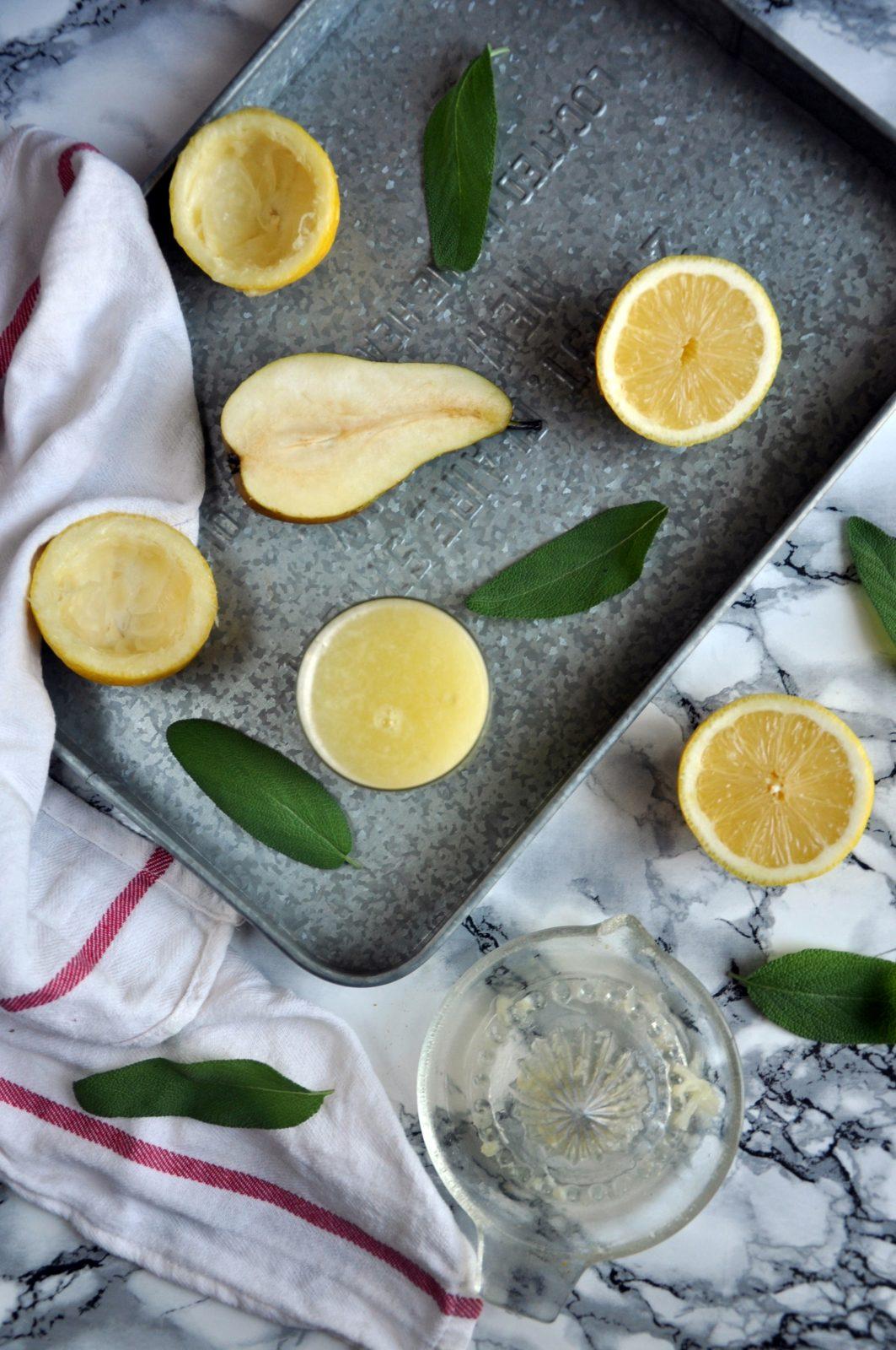 Lemoniada gruszkowa z szałwią