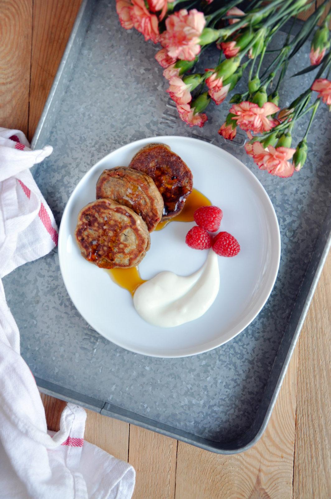 Żytnie placuszki z ricottą i malinami